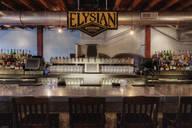Elysian Brewing sign over bar, Seattle, Washington, United States - MINF12271