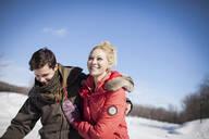 Caucasian couple in winter - MINF12305