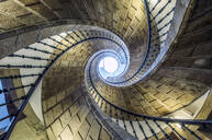 Low angle view of spiral staircase - MINF12525