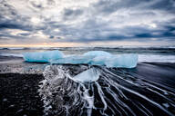 Glaciers washing up on remote beach - MINF12573