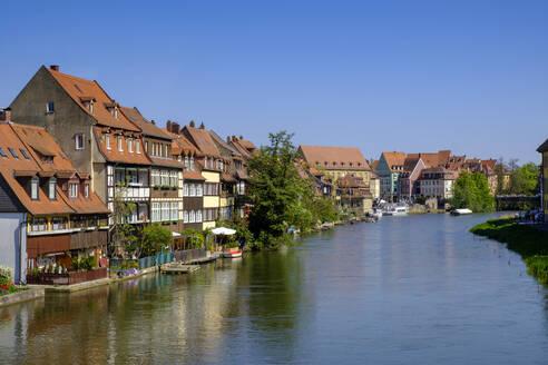 Altstadtviertel Klein Venedig am Ufer der Regnitz, Bamberg, Oberfranken, Franken, Bayern, Deutschland, - LBF02600