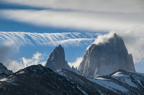 Mount Fitzroy, Unesco world heritage sight El Chalten, Argentina, South America - RUNF02748