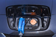 Charging of an electric car, close-up - TCF06097