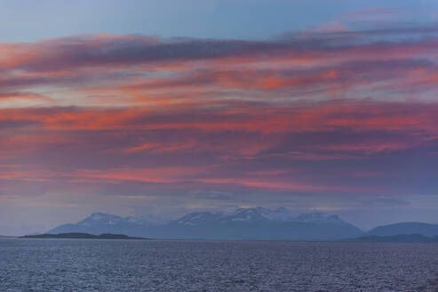 Sunset over the beagle channel, Argentina, South America - RUNF02780