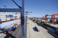 Container ship moored at commercial dock - JUIF01519