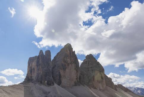 Tre Cime di Lavaredo, Nature Park Tre Cime, Unesco World Heritage Natural Site, Sexten Dolomites, Italy - GWF06117