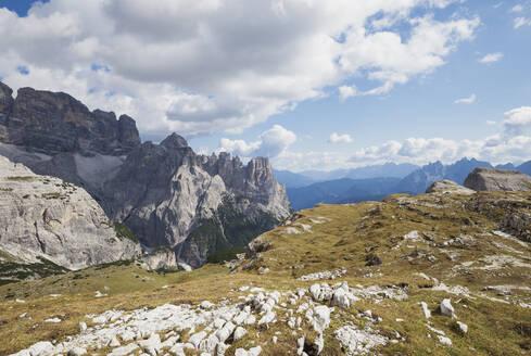 Tre Cime di Lavaredo Area, Nature Park Tre Cime, Unesco World Heritage Natural Site, Sexten Dolomites, Italy - GWF06126