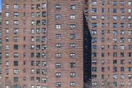 Detail of an apartment block, New York City, USA - MMAF00982