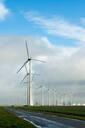 Wind turbines around the Delfzijl harbour area, Delfzijl, Groningen, Netherlands - CUF51578