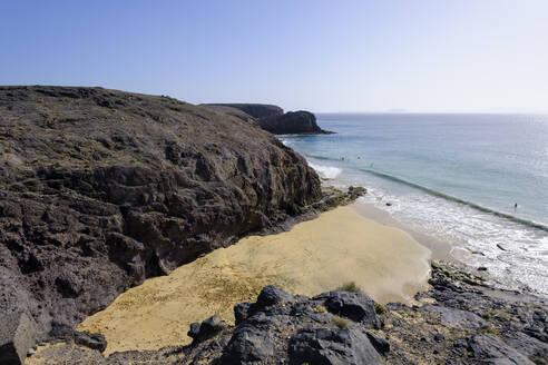 Papagayo-Strände, Playas de Papagayo, bei Playa Blanca, Lanzarote, Kanarische Inseln, Spanien - SIEF08706