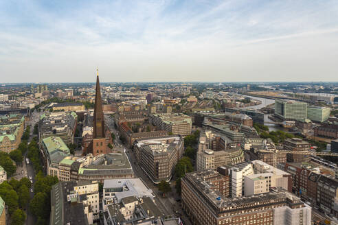 Cityscape with St. James' Church, old town and  St. Georg, Hamburg, Germany - TAMF01612