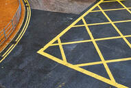 Road markings, Central District, Hong Kong, China - MRF02101