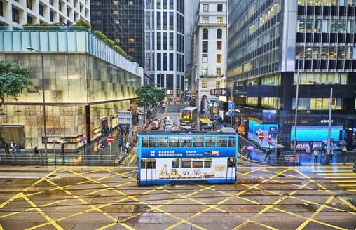 Tramway at Central District, Hong Kong, China - MR02104