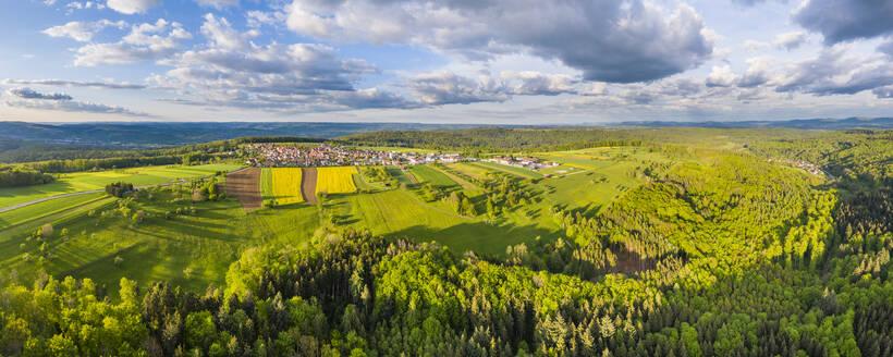 Luftaufnahme Schwäbischer Wald, Rems-Murr-Kreis, Baden Württemberg, Deutschland - STSF02027