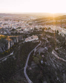 Cuenca at sunset, Castile-La Mancha, Spain - RSGF00234