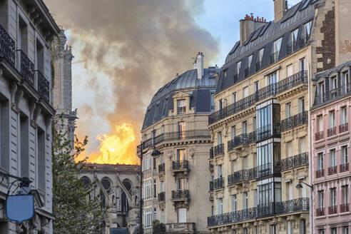 Notre-Dame de Paris fire, Paris, Ile-de-France, France - CUF51946