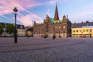 Stortorget square with the city town hall radhus or at sunset - TAM01657