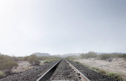 Train tracks in dusty rural landscape - BLEF08675
