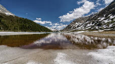 Scenic view of Obersee lake inDefereggen Valley, East Tyrol, Austria - STSF02076