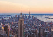 Aerial view of New York cityscape, New York, United States - BLEF08886