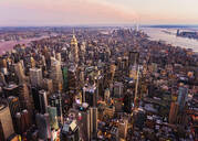 Aerial view of New York cityscape, New York, United States - BLEF08889