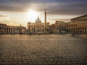 Ornate buildings and Saint Peters Square, Rome, Lazio, Italy - BLEF09394