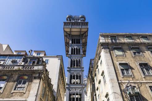 Portugal, Lissabon, Stadtzentrum, Innenstadt, Elevador de Santa Justa, Fahrstuhl, erbaut 1902 - WDF05281