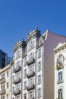 Portugal, Lissabon, Stadtzentrum, Innenstadt, Art Déco Baustil, Fassaden - WDF05284