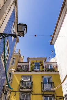 Portugal, Lissabon, Altstadt, Stadtteil Bairro Alto, Häuser, Azulejos - WDF05287