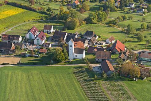 Deutschland, Baden-Württemberg, Bodensee, Überlinger See, Überlingen, Luftaufnahme Aufkirch - SHF02210