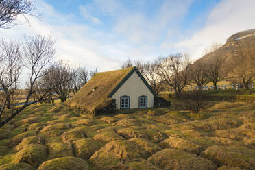 Iceland, Southern Iceland, Hof, Hofskirkja Church - TAMF01740
