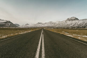 Iceland, Road number 1 with mountains - TAMF01746
