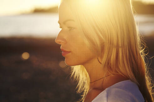 Caucasian woman at beach - BLEF09694