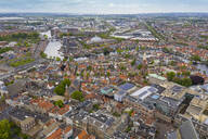Aerial view of Haarlem cityscape against sky - TAMF01815