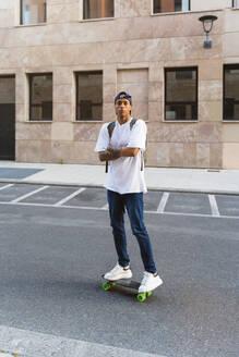 Italy, Tuscany, Florence, Urban Young Man, Mixed Race - MGIF00572