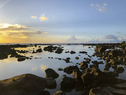 Stony beach, Pointe aux Piments, Mauritius - DRF01745