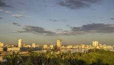 Havana city skyline and cloudy sky, Havana, Cuba - BLEF10602