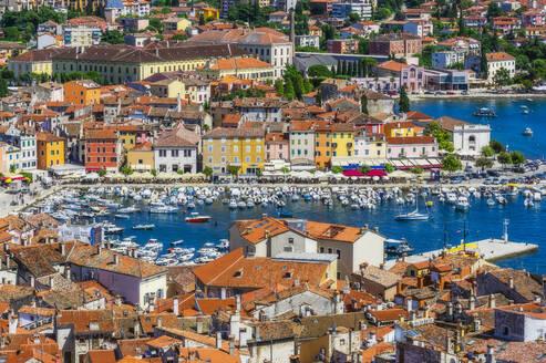 View over Rovinj from church of St. Euphemia, Istria, Croatia - THAF02573