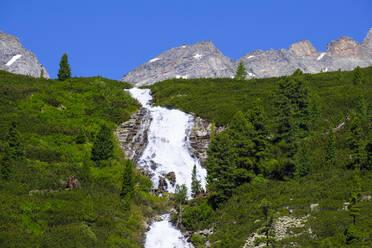 Waterfall Unterschrammachbach, Zillertal Alps, Ziller valley, Tyrol, Austria - SIEF08800