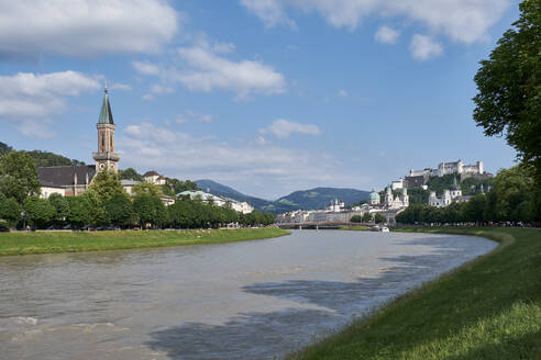 River Salzach and Christ church, Salzburg, Austria - ELF02037