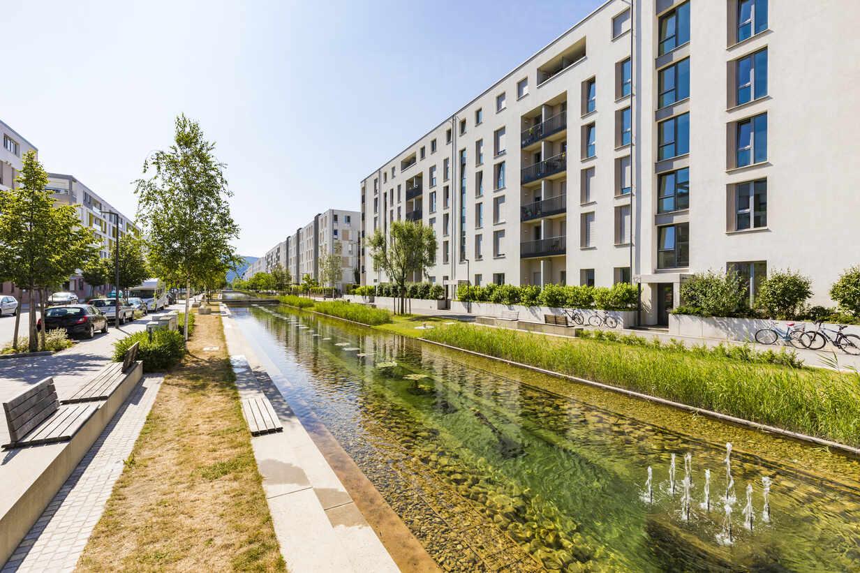 Passive house development area, Bahnstadt, Heidelberg, Germany - WDF05347 - Werner Dieterich/Westend61