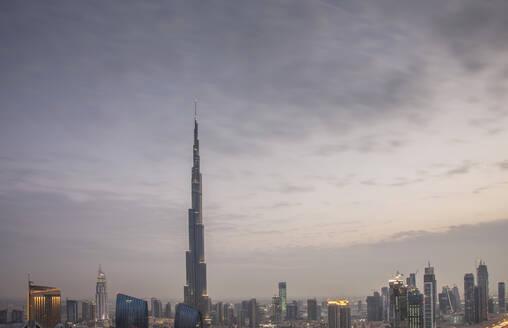 Dubai city skyline, Dubai Emirate, United Arab Emirates - BLEF11986