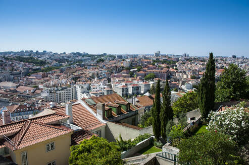 View of cityscape from Castelo Sao Jorge in Lisbon, Portugal - RUNF02864