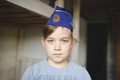 Russia, Moscow, portrait of blue eyes boy - EYAF00317