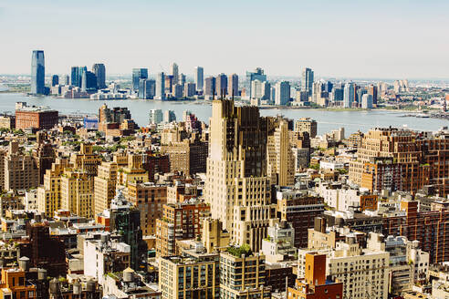Aerial view of New York cityscape, New York, United States - BLEF12874
