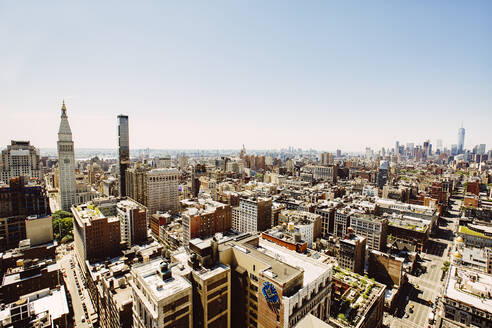 Aerial view of New York cityscape, New York, United States - BLEF12877