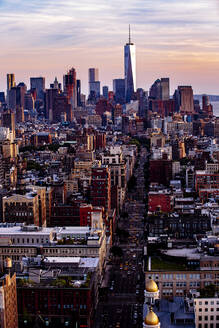 Aerial view of New York cityscape, New York, United States - BLEF12904