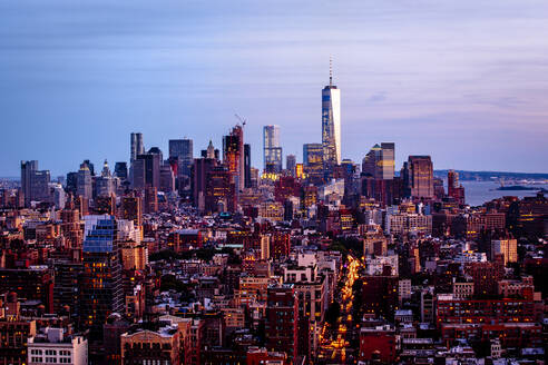 Aerial view of New York cityscape, New York, United States - BLEF12913
