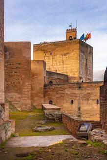 Alcazaba ruins at Alhambra, Granada, Spain - TAMF01883