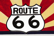 Close up of Route 66 sign - BLEF13102